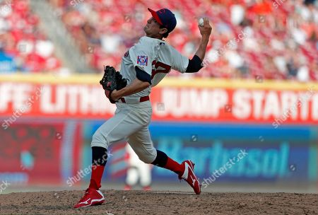 Editorial photo of Indians Reds Baseball, Cincinnati, USA - 06 Jul 2019