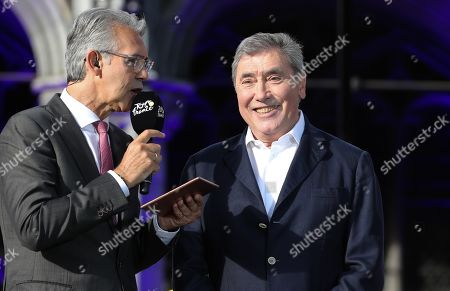 Belgian cycling legend Eddy Merckx during the festivities
