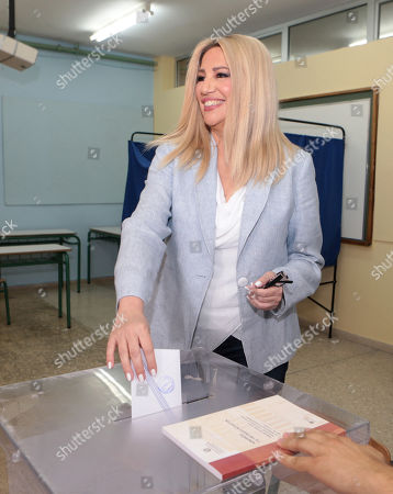 Fofi Gennimata, President of the Movement for Change (KINAL) party casts her vote during the general elections at a polling station in Athens, Greece, 07 July 2019. Greek voters will go to the polls on 07 July 2019 to cast their ballots in the Greek general elections.