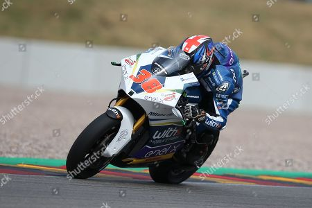 Stock Picture of #38 Bradley Smith GBR finishes 2nd in the inaugural electric bike MotoE race during the HJC Helmets Motorrad Grand Prix Deutschland at Hohenstein-Ernstthal, Chemnitz, Saxony