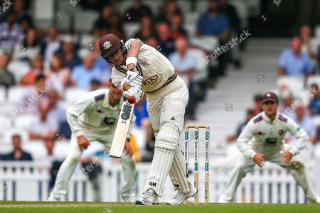 Jamie Smith of Surrey batting during the Specsavers County Champ Div 1 match between Surrey County Cricket Club and Kent County Cricket Club at the Kia Oval, Kennington