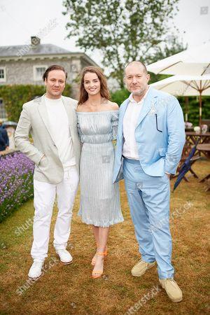 Nicholas Kirkwood, Catie Munnings and Jony Ive