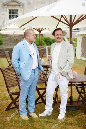 Stock Photo of Jony Ive and Nicholas Kirkwood