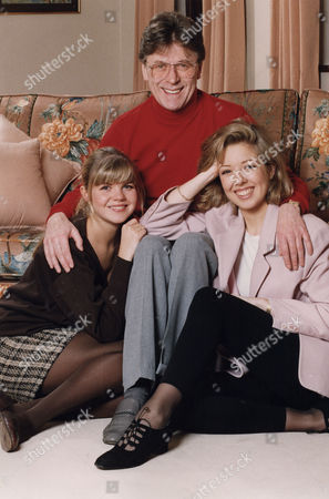 Mike Yarwood (l) Charlotte Yarwood (r) Clare Yarwood Comedian And His Two Daughters At His Surrey Home..... 1993