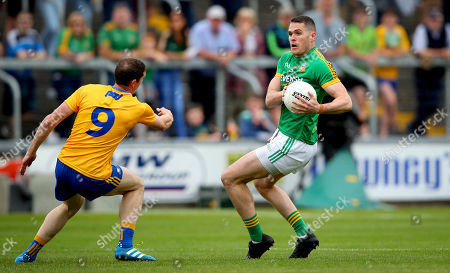 Meath vs Clare. Meath's Bryan Menton and Cathal O'Connor of Clare