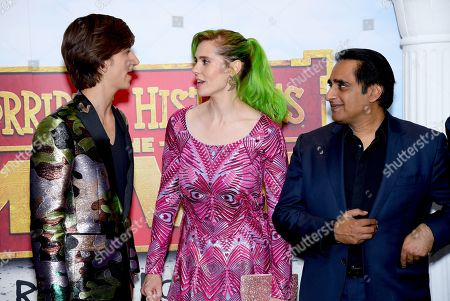 Sebastian Croft, Kate Nash and Sanjeev Bhaskar