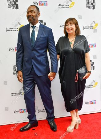 Stock Photo of Lenny Henry and wife Lisa Makin