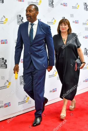 Stock Image of Lenny Henry and wife Lisa Makin