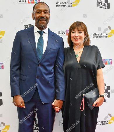 Lenny Henry and wife Lisa Makin