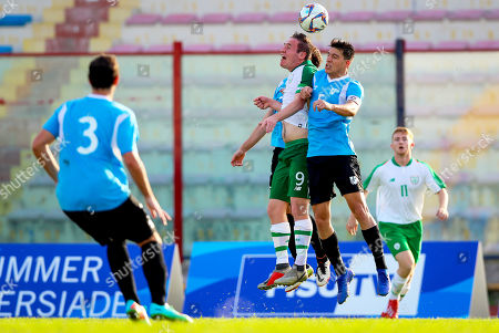 Ireland vs Uruguay. Ireland's Alan O'Sullivan with Diego Martin Bonaudi Melgar of Uruguay