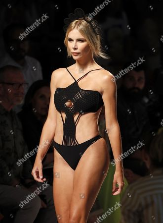 Spanish model Agueda Lopez presents a creation from the Spring-Summer 2020 collection by Spanish designer Dolores Cortes during a fashion show during the 70th Mercedes-Benz Fashion Week Madrid, in Madrid, Spain, 07 July 2019. The MBFWM runs from 05 to 10 July.
