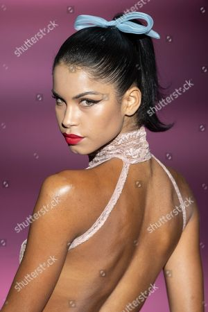 Stock Photo of Daiane Sodre on the catwalk