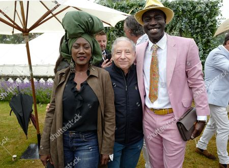 Stock Image of Guest, Jean Todt and Reggie Ansah