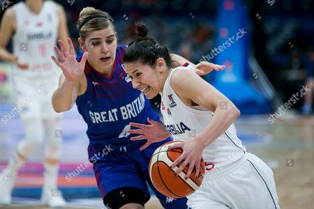 Editorial image of FIBA Women's Eurobasket third place game, Basketball, Serbia v Great Britain, Belgrade, Serbia - 07 Jul 2019