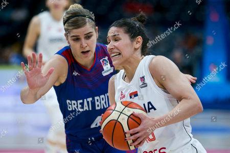 Editorial photo of FIBA Women's Eurobasket third place game, Basketball, Serbia v Great Britain, Belgrade, Serbia - 07 Jul 2019