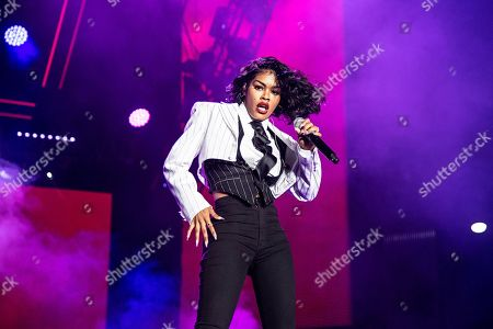 Tayana Taylor. Teyana Taylor performs at the 2019 Essence Festival at the Mercedes-Benz Superdome, in New Orleans