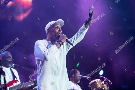 Frankie Beverly performs at the 2019 Essence Festival at the Mercedes-Benz Superdome, in New Orleans