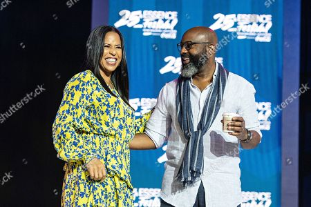 Michelle Ebanks; Richelieu Dennis. Michelle Ebanks, left, and Richelieu Dennis attend the 2019 Essence Festival at the Ernest N. Morial Convention Center, in New Orleans