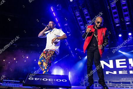 Nelly; Jermaine Dupri. Nelly, left, and Jermaine Dupri perform at the 2019 Essence Festival at the Mercedes-Benz Superdome, in New Orleans