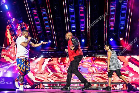 Nelly; Jermaine Dupri; Lil Jon. Nelly, from left, Jermaine Dupri, and Lil Jon perform at the 2019 Essence Festival at the Mercedes-Benz Superdome, in New Orleans