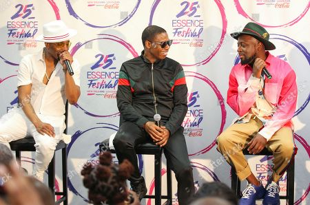 Teddy Riley, Doug E. Fresh, Wyclef Jean. Teddy Riley, Doug E. Fresh, and Wyclef Jean at the 2019 Essence Festival at the Mercedes-Benz Superdome, in New Orleans