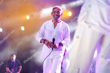 Stock Photo of Frankie Beverly performs at the 2019 Essence Festival at the Mercedes-Benz Superdome, in New Orleans