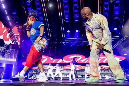 Da Brat; Jermaine Dupri. Da Brat, left and Jermaine Dupri perform at the 2019 Essence Festival at the Mercedes-Benz Superdome, in New Orleans