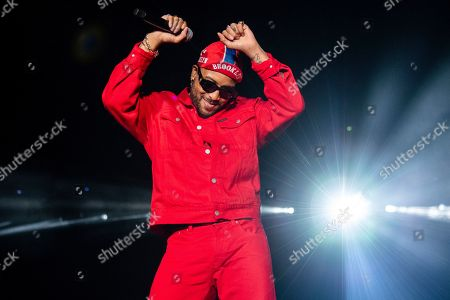 Stock Image of Ro James performs at the 2019 Essence Festival at the Mercedes-Benz Superdome, in New Orleans