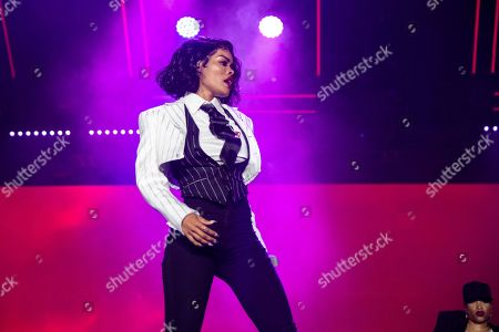 Teyana Taylor performs at the 2019 Essence Festival at the Mercedes-Benz Superdome, in New Orleans