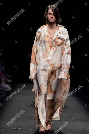 Editorial image of Juan Vidal show, Runway, Mercedes Benz Fashion Week, Madrid, Spain - 07 Jul 2019