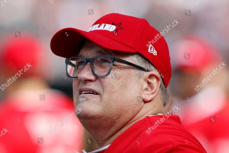 Actor Drew Carey at the All-Star Celebrity Softball  Game at Progressive Field in Cleveland, Ohio, USA, 07 July 2019.