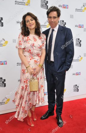 Louise Delamere and Stephen Mangan