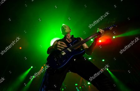 British band 'Def Leppard' guitarist Phil Collen performs on stage during the Rock Fest concert played at the Santa Coloma de Gramanet's Can Zam park in Barcelona, Spain, 07 July 2019.