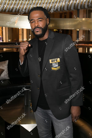Editorial image of Rashad Evans inducted in to the UFC Hall of Fame at Electra Cocktail Club, Las Vegas, USA - 05 Jul 2019