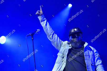 Tariq Luqmaan Trotter, better known under his stage name Black Thought of the US hip hop band 'The Roots' performs during the 31st Eurockeennes Festival in Belfort, France, late 07 July 2019 (issued 08 July 2019). The music festival ran from 04 to 07 July 2019.