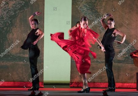 Editorial photo of 'Sombras' performed by Ballet Flamenco Sara Baras at Sadler's Wells Theatre, London, UK - 02 Jul 2019