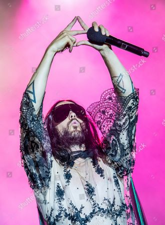 Jared Leto performs