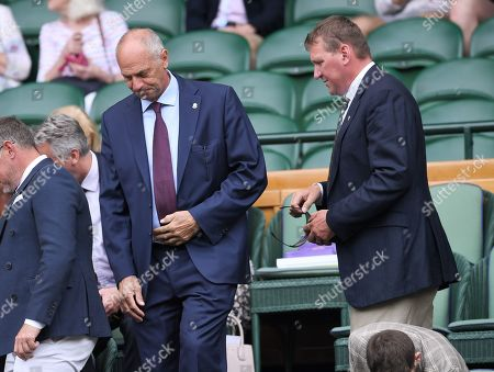 Stock Image of Steve Redgrave and Matthew Pinsent on Centre Court