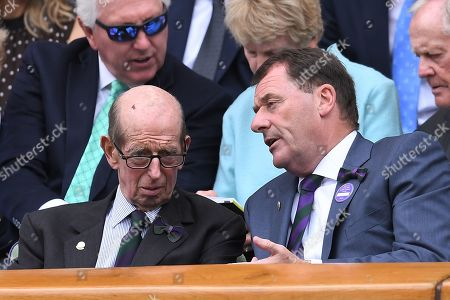 The Duke of Kent and Phillip Brook, AELTC Chairman on Centre Court