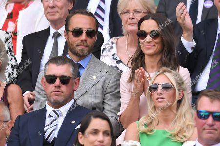 James Middleton and Pippa Middletonn on Centre Court