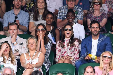 Binky Felstead and Lucy Watson on Centre Court