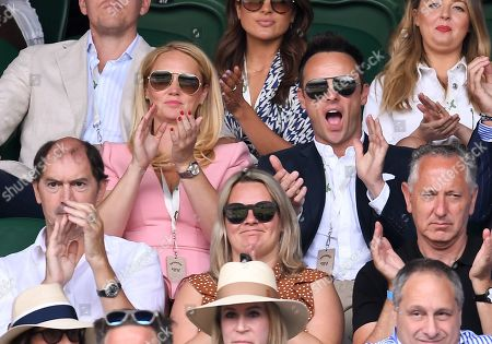 Anthony McPartlin and Anne-Marie Corbett on Centre Court
