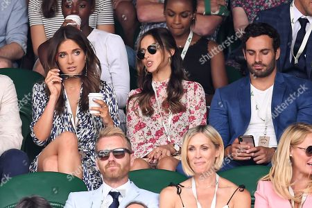 Binky Felstead, Lucy Watson and James Dunmore on Centre Court