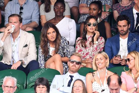 Stock Picture of Binky Felstead, Lucy Watson and James Dunmore on Centre Court
