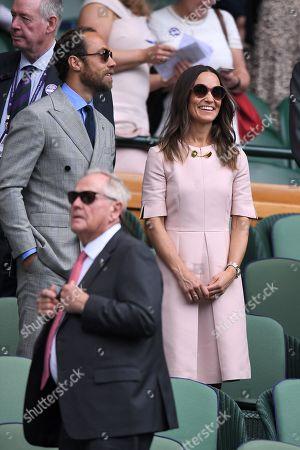 Pippa Middleton and James Middleton on Centre Court