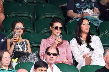 Louisa Lytton, Kara Tointon and Lisa Snowdon on Centre Court