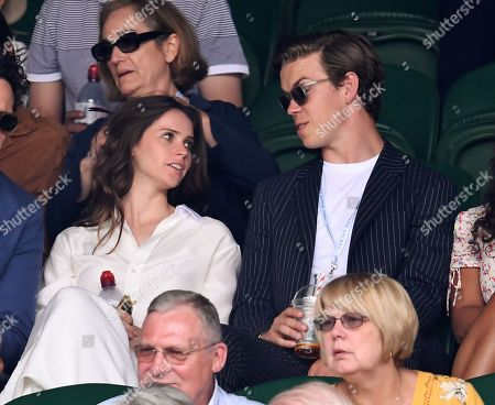 Felicity Jones and Will Poulter on Centre Court
