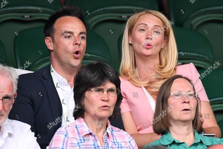 Stock Photo of Anthony McPartlin and Anne-Marie Corbett on Centre Court