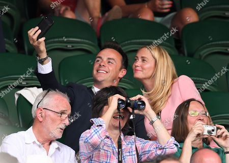 Stock Picture of Anthony McPartlin and Anne-Marie Corbett on Centre Court