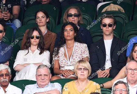 Stock Photo of Felicity Jones, Ruth Wilson and Will Poulter on Centre Court